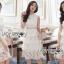 ชุดเดรสเกาหลี พร้อมส่งเดรสผ้าลูกไม้สีขาวตกแต่งเลเยอร์สุดเก๋ thumbnail 7
