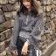เสื้อผ้าเกาหลี พร้อมส่งเซ็ตเสื้อและกระโปรงลายดอกไม้จุดสีขาวดำสไตล์โบฮีเมียน thumbnail 8