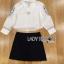เสื้อผ้าเกาหลี พร้อมส่งเซ็ตเชิ้ตสีขาวและกระโปรงปักลายสไตล์ชนเผ่า thumbnail 9