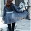 เสื้อผ้าเกาหลี พร้อมส่งเบลเซอร์ยาวผ้าเดนิมสไตล์สปอร์ตเฟมินีน thumbnail 2