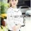 เสื้อผ้าเกาหลี พร้อมส่งจัมเป็นสีขาวตกแต่งผ้าลูกไม้โครเชต์ thumbnail 10