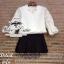 เสื้อผ้าเกาหลี พร้อมส่งเซ็ทเสื้อกับกางเกง ลุคChic&Casual thumbnail 11