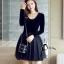 ชุดเดรสเกาหลี พร้อมส่งCendrillon Pricess Black Dress thumbnail 2