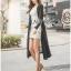 เสื้อผ้าเกาหลี พร้อมส่งเสื้อคลุมแขนยาวผ้าcottonสไตล์สมาร์ทแคชชวล thumbnail 3