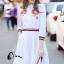 เสื้อผ้าเกาหลี พร้อมส่งเชิ้ตแนวเดรส สีขาวลายใหม่ผลิตออกมาให้ สวยเด่น thumbnail 4