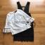 เสื้อผ้าแฟชั่นพร้อมส่ง เสื้อผ้าลูกไม้สีขาวทับด้วยเดรสสีดำตกแต่งลูกไม้ thumbnail 11