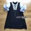 ชุดเดรสเกาหลีพร้อมส่ง มินิเดรสสีดำชายรัฟเฟิ้ลตกแต่งลูกไม้และริบบิ้น thumbnail 10