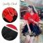 เสื้อผ้าเกาหลี พร้อมส่ง เซ็ตเสื้อ+กระโปรง ตัวเสื้อสีแดงสด กระโปรงผ้าแก้วสีดำ thumbnail 8