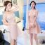 ชุดเดรสเกาหลีพร้อมส่ง Sweet Pinky Sensual Dress thumbnail 6