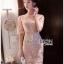 ชุดเดรสเกาหลี พร้อมส่งเดรสผ้าลูกไม้สีชมพูอ่อนสุดหรู thumbnail 1