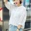 เสื้อผ้าแฟชั่น พร้อมส่งKorean Summer Time Lace Shirt thumbnail 4