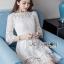 Isabelle Easy Sunday Feminine White Lace Dress thumbnail 2