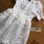 ชุดเดรสเกาหลี พร้อมส่งเดรสผ้าลูกไม้สีขาวสไตล์คลาสสิกสุดหวาน thumbnail 7