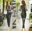 Babara Smart Casual Black & White Ruffle Lace Jumpsuit thumbnail 5