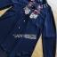 เสื้อผ้าเกาหลี พร้อมส่งเชิ้ตเดรสปักลายดอกไม้สไตล์สาวอิตาเลียน thumbnail 7