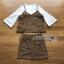 เสื้อผ้าเกาหลี พร้อมส่งเสื้อสายเดี่ยวกำมะหยี่ทับเสื้อแขนบานสีขาวและกระโปรงกำมะหยี่ thumbnail 9