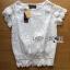 เสื้อผ้าเกาหลี พร้อมส่ง เสื้อผ้าลูกไม้สีขาวสไตล์คลาสสิกวินเทจ thumbnail 8