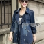 Gracie Fall Winter Double-Breasted Denim Coat thumbnail 3