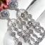 พร้อมส่ง Apm long diamond earring งานเกรดแพงที่สุดฝังแบบMircosetting thumbnail 3