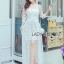Vanessa Flower Embroidered White Tulle and Lace Dress thumbnail 5