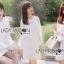 ชุดเดรสเกาหลี พร้อมส่งเดรสผ้าลูกไม้แขนชีฟองสีขาวสไตล์เฟมินีน thumbnail 4