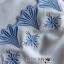 เสื้อผ้าเกาหลี พร้อมส่งเซ็ตเสื้อแขนกุดและกางเกงขาสั้นสีขาวปักตกแต่งลายสีฟ้า thumbnail 14