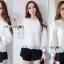 เสื้อผ้าเกาหลี พร้อมส่งเสื้อผ้าลูกไม้สีขาวสไตล์คลาสสิกสุดหวาน thumbnail 4
