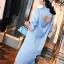 เสื้อผ้าเกาหลี พร้อมส่งAzura Skyblue Shirt + Embroidered Luxury Skirt thumbnail 11