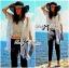Nicole Elegant Fringed Lace-Organza Poncho thumbnail 3