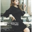 Tanna Crystal Embellished Draped Black Dress thumbnail 3