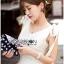 เสื้อผ้าเกาหลี พร้อมส่งค็อกเทลเดรสผ้าโพลีเอสเตอร์ตกแต่งริบบิ้นสไตล์เซ็กซี่ thumbnail 7
