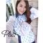 เสื้อผ้าแฟชั่นเกาหลีพร้อมส่ง เชิ้ตแขนยาว ผ้า cotton Polyester thumbnail 3