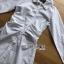 เสื้อผ้าเกาหลี พร้อมส่งเชิ้ตเดรสพิมพ์ลายทางผูกโบที่เอวสไตล์เบสิก thumbnail 8