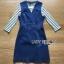 เสื้อผ้าเกาหลี พร้อมส่งเซ็ตเดรสเดนิมสวมทับเสื้อแขนยาวลายทางสไตล์สมาร์ทแคชชวล thumbnail 13