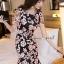 เสื้อผ้าเกาหลี พร้อมส่งSakura Pink Lace Netty Dress thumbnail 3