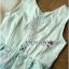 ชุดเดรสเกาหลีพร้อมส่ง เดรสผ้าเครปสีขาวครีมและกระโปรงผ้าลูกไม้สีพาสเทล thumbnail 10
