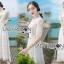 ชุดเดรสเกาหลี พร้อมส่งเดรสยาวผ้าลูกไม้สีขาวสไตล์ลำลอง thumbnail 19