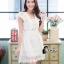 ชุดเดรสเกาหลี พร้อมส่งLuxury Lace Pricess Dress thumbnail 6