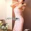 ชุดเดรสเกาหลี พร้อมส่งเดรสผ้าลูกไม้สีชมพูอ่อนสุดหรู thumbnail 7