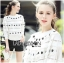 เสื้อผ้าเกาหลี พร้อมส่งจัมเป็นสีขาวตกแต่งผ้าลูกไม้โครเชต์ thumbnail 7