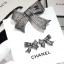 พร้อมส่ง Ribbon Brooch &Earring เข็มกลัด/ต่างหู ชาแนล โบว์ มี logo งานขายดีมาก ฝังCZแท้ thumbnail 7