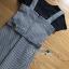 เสื้อผ้าเกาหลีพร้อมส่ง เซ็ตเสื้อยืดสีดำทับด้วยเดรสลายตารางต thumbnail 10