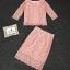 เสื้อผ้าเกาหลี พร้อมส่งงานเซตสุดเก๋ เสื้อ+กระโปรง ดีไซน์ตัวเสื้อทรงปล่อย thumbnail 7