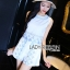 เสื้อผ้าเกาหลี พร้อมส่งเซ็ตเสื้อแขนกุดและกางเกงขาสั้นสีขาวปักตกแต่งลายสีฟ้า thumbnail 7