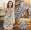 ชุดเดรสเกาหลี พร้อมส่งเดรสผ้าลูกไม้สีเทาอมฟ้าไลแล็คสไตล์แบรนด์ Self-Portrait thumbnail 6