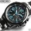นาฬิกา Seiko Chronograph Solar Watch V172 SSC079 สายสแตนเลสรมดำ thumbnail 5