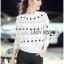 เสื้อผ้าเกาหลี พร้อมส่งจัมเป็นสีขาวตกแต่งผ้าลูกไม้โครเชต์ thumbnail 8