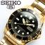 SEIKO SNZF22J1Seiko MINI Monster Automatic นาฬิกาข้อมือผู้ชาย สีดำทอง สายสแตนเลส thumbnail 6