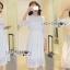 ชุดเดรสเกาหลี พร้อมส่งเดรสผ้าลูกไม้สีขาวสไตล์ลำลอง thumbnail 5