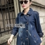 Gracie Fall Winter Double-Breasted Denim Coat thumbnail 2